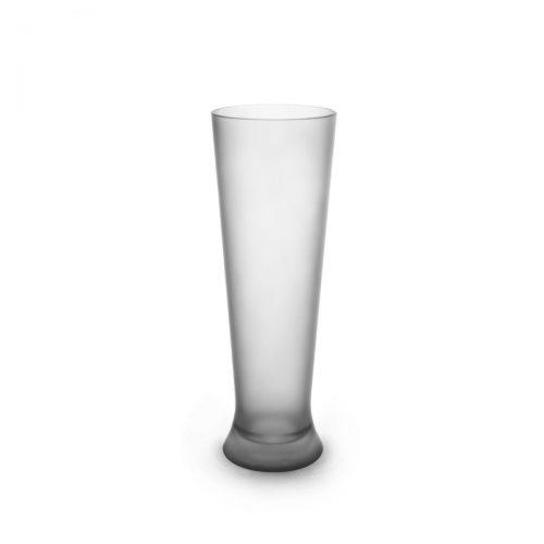 Verre à bière givré incassable et personnalisable.