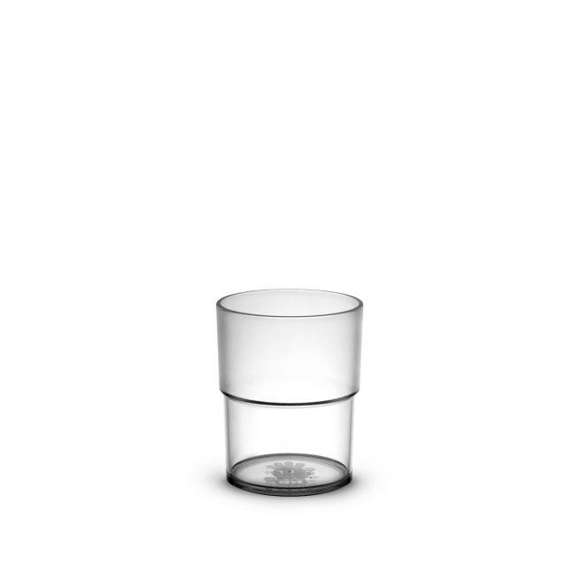 Gobelet transparent incassable et personnalisable. Disponible en plusieurs coloris. Demandez votre devis.