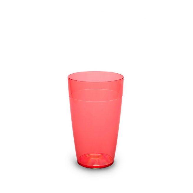 Grand gobelet rouge incassable et personnalisable.