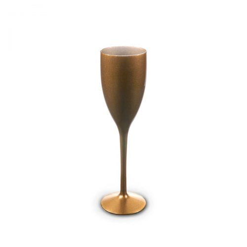 Flûte à champagne dorée incassable et personnalisable.