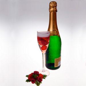 Flûte à champagne transparent