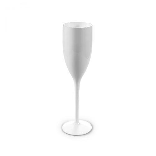 Flûte à champagne blanche incassable | RBDRINKS®