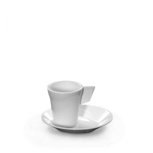 Tasse à café blanche incassable et personnalisable.