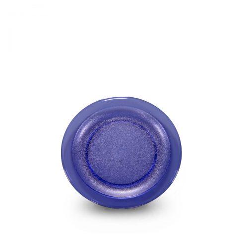 Assiette bleue incassable et personnalisable. Devis ici.