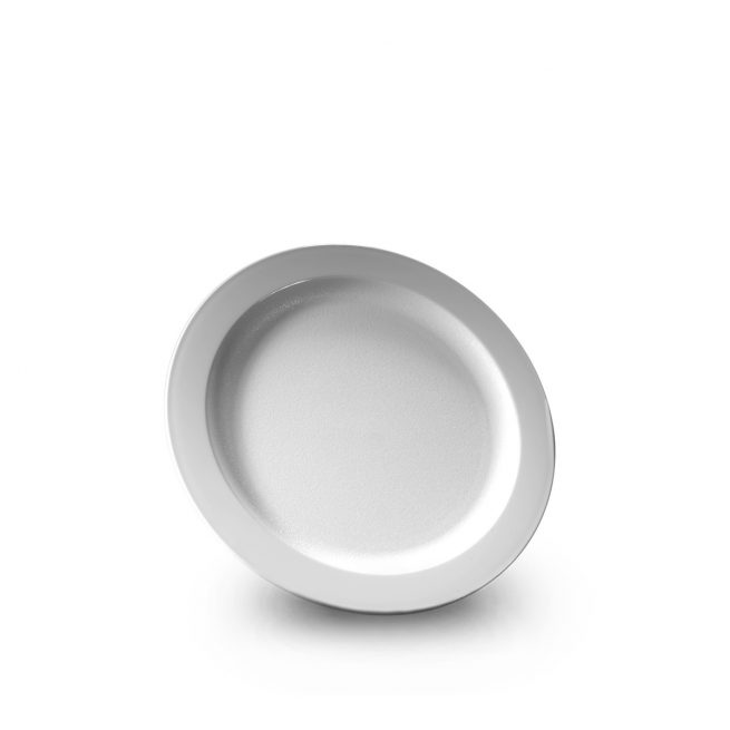 Grande assiette blanche incassable et personnalisable. Demandez votre devis ici.