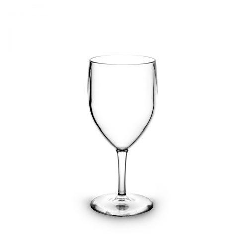 Verre à eau transparent incassable et personnalisable.