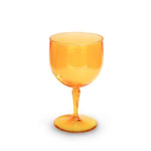 Verre piscine orange incassable et personnalisable.